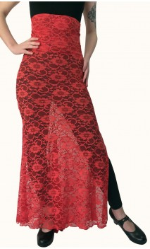 Falda Flamenca Olga de Encajes