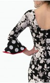 Black & White Flamenco Dress 3 Ruffles