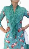 Frida Flamenco Dress Canastera Style w/Lace Scarf