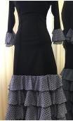 Black & Lilac Top & Skirt 5 Ruffles Flamenco Set