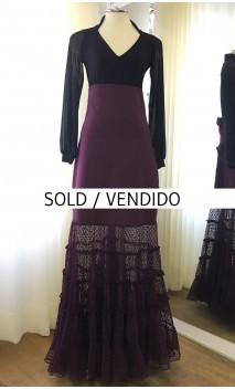 Falda Flamenca Túl Color Vino