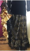 Velvet Flamenco Skirt w/Golden Petticoat