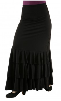 Eva 3 Ruffles Flamenco Skirt