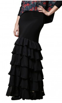 Candela Crepe Chiffon Long-skirt