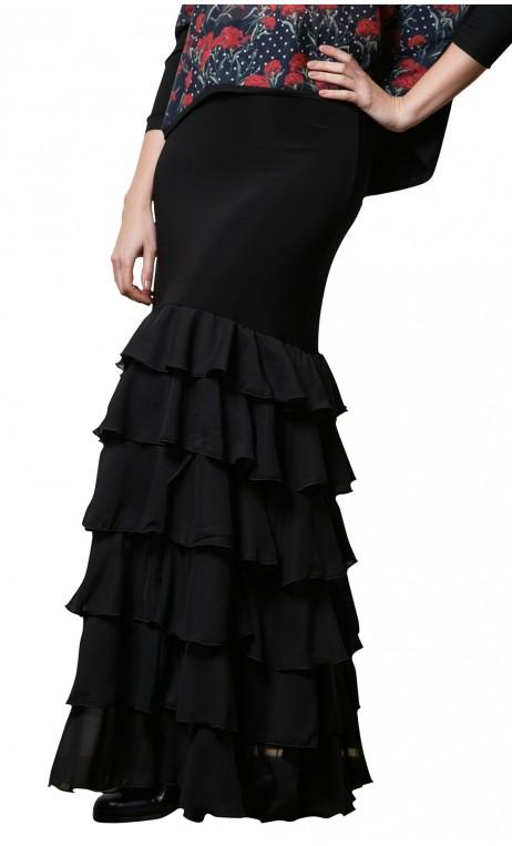 Candela Crepe Chiffon Long-skirt