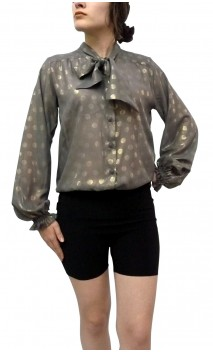 Camisa CARMEN Crepe Lunares Dorados