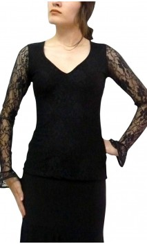 Erika Lace Top Long-sleeves