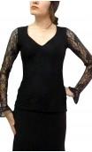 Erika Lace Top Long-sleeves