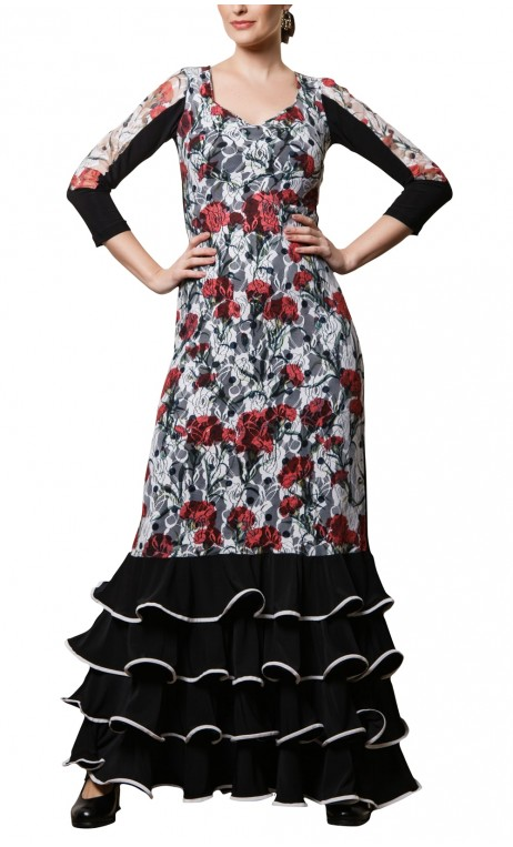 Vestido Encajes Jardín Flamenco