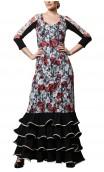 Jardín Flamenco Lace Detail Long-Dress