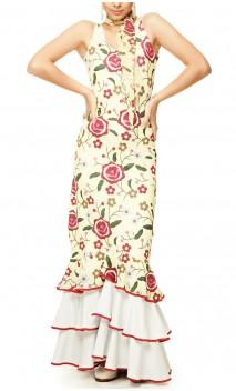 Vestido Gitana Floral 3 Babados