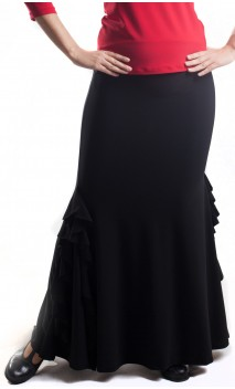 Gabriela Panel Ruffles Long-Skirt