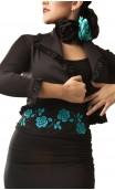 GABI Belt Black w/ Turquoise